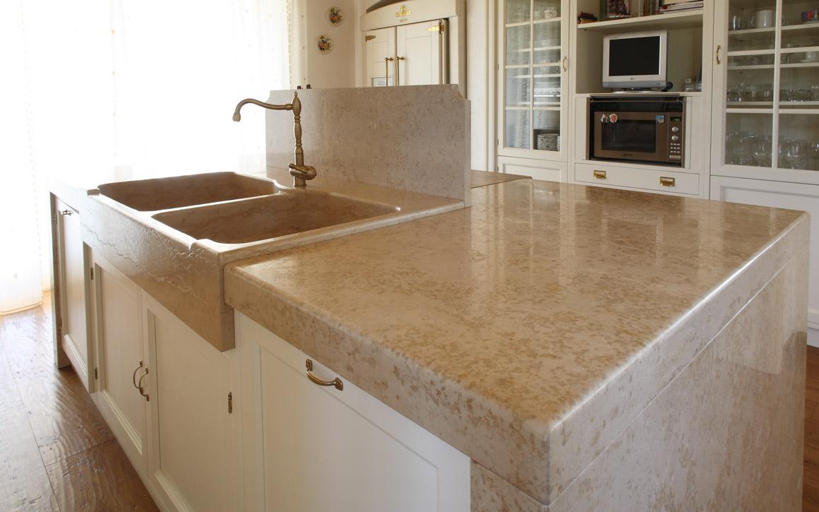 Giallo d 39 istria kitchen countertop margraf - Top in marmo per cucine prezzi ...
